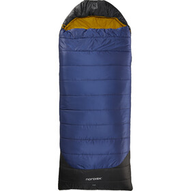Nordisk Puk -2° Blanket Śpiwór L, true navy/mustard yellow/black